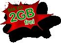 bis zu 2GB frei